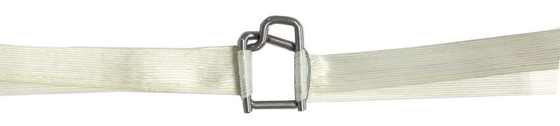 Крепеж кордстрап-ленты с помощью проволочной скобы
